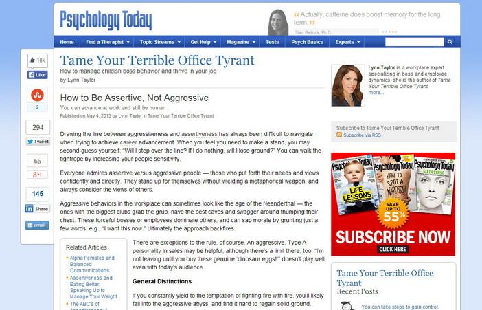 Psychology Today: Být asertivní nebo agresivní?