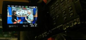 Natáčení videorozhovoru s Marianem Jelínkem
